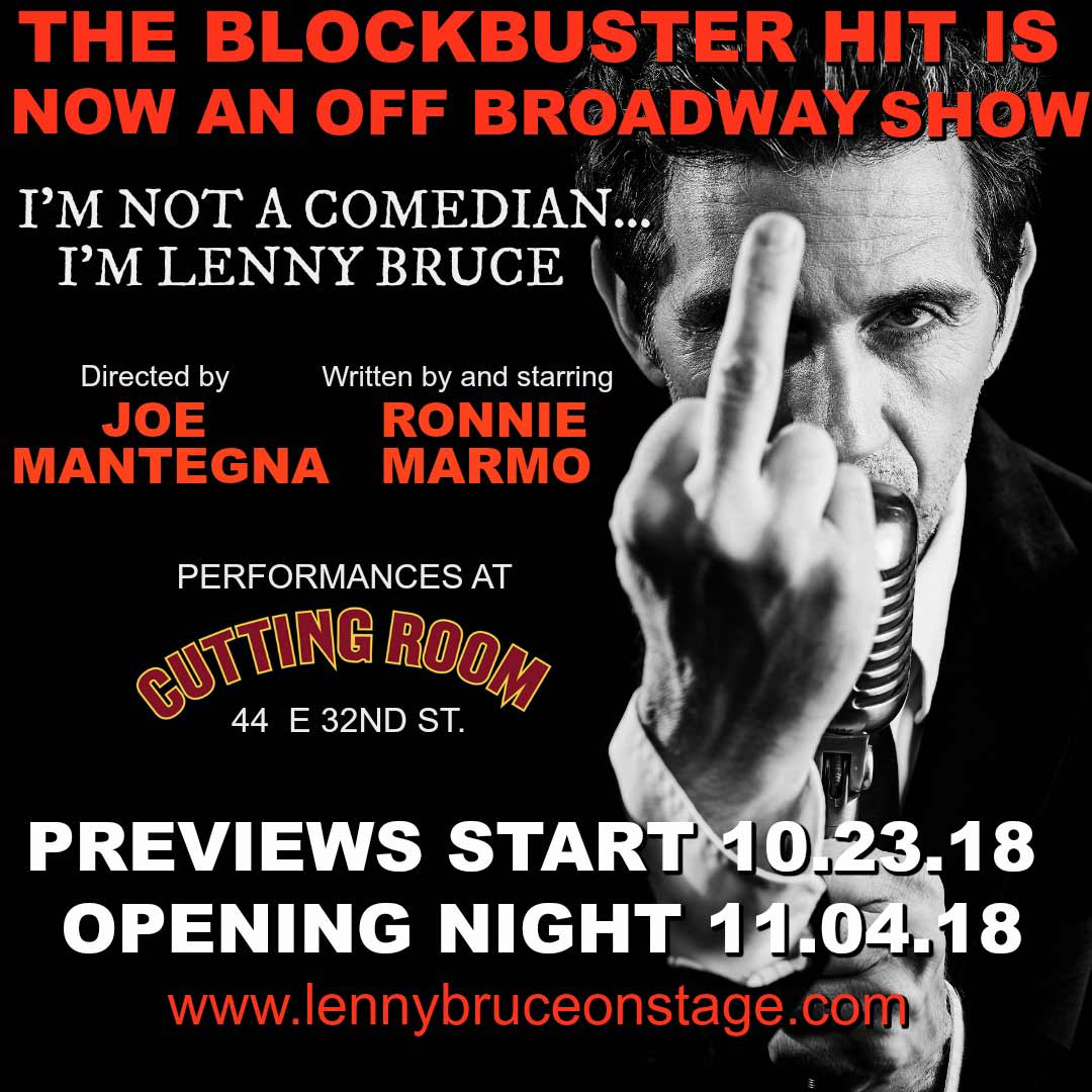 I'm Not a Comedian . . . I'm Lenny Bruce is no Off Broadway